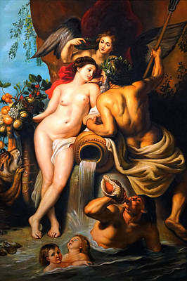 Painting - The Union Of Earth And Water After Peter Paul Rubens by Giorgio Tuscani