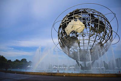 Photograph - The Unisphere Rainbow by Theodore Jones