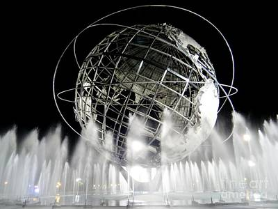 Photograph - The Unisphere's 50th Anniversary by Ed Weidman