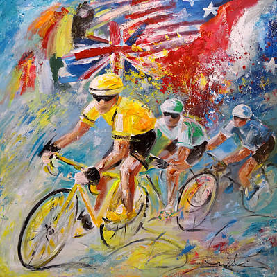 Recently Sold - Sports Paintings - The United Colours Of The Tour De France by Miki De Goodaboom