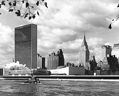 United Nations Photograph - The United Nations Building by Underwood & Underwood