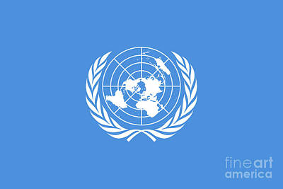 The United Nations Flag  Authentic Version Art Print