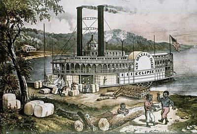 The United States 19th C..steamship Art Print