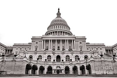 Neoclassical Photograph - The United States Capitol  by Olivier Le Queinec