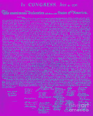 Thomas Jefferson Digital Art - The United States Declaration Of Independence 20130215p168 by Wingsdomain Art and Photography