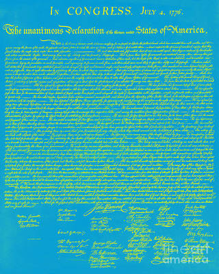The United States Declaration Of Independence 20130215p68 Art Print