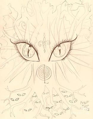 The Universal Tree Sketch Print by Coriander  Shea
