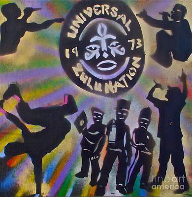 Free Speech Painting - The Universal Zulu Nation by Tony B Conscious
