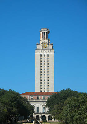The University Of Texas Tower Art Print by Connie Fox