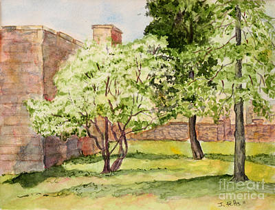 The University Of The South Campus Print by Janet Felts