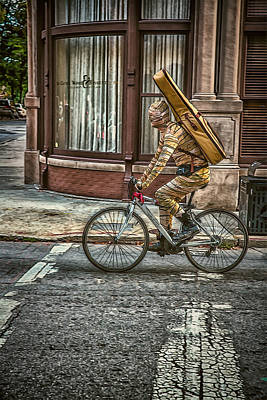 Mixed Media Royalty Free Images - The Unknown Busker Royalty-Free Image by John Haldane
