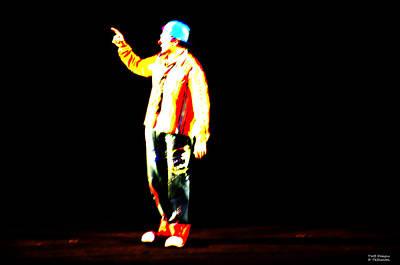 Photograph - The Unnamed Clown by Teresa Blanton