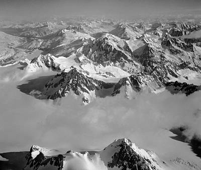 Photograph - T-101800-bw-unnamed Peaks Of Alaska by Ed  Cooper Photography