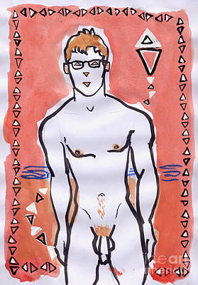 Bipolar Drawing - The Unsteady Kite Flying Of A Boy With Bipolar Disorder by Line Arion