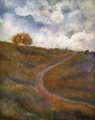 Landscapes Painting - The Uphill Road by Joe Leahy
