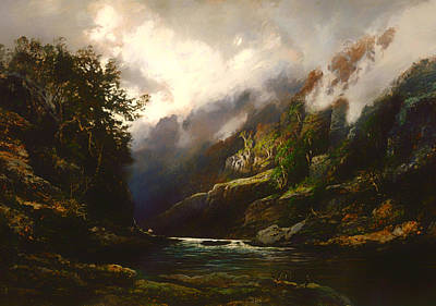 Beautiful Creek Painting - The Upper Nepean  by Mountain Dreams