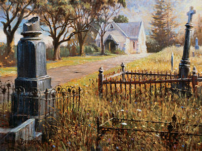 Prophetic Painting - The Upward Path  Waikumete Cemetery  Auckland by Graham Braddock