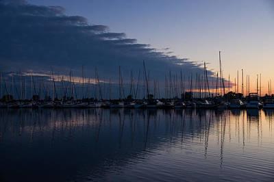 Photograph - The Urge To Sail Away - Violet Sky Reflecting In Lake Ontario In Toronto Canada by Georgia Mizuleva