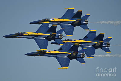 The U.s. Navy Flight Demonstration Art Print by Stocktrek Images