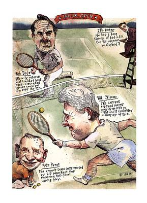 Bob Ross Drawing - The U.s. Open by Barry Blitt