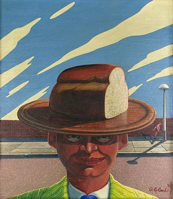 Boy Peeing Painting - The Use Your Loaf Man by Arthur Glendinning