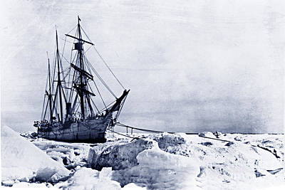 Photograph - The Usrc Bear Caught In The Ice At Cape Smyth Alaska June 1899 by California Views Mr Pat Hathaway Archives
