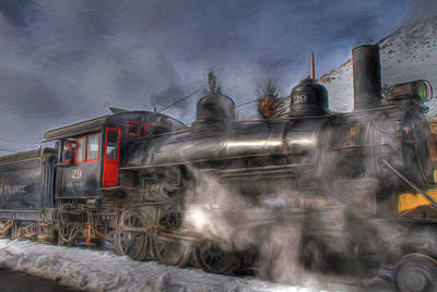Photograph - The V And T Steam Train by Donna Kennedy