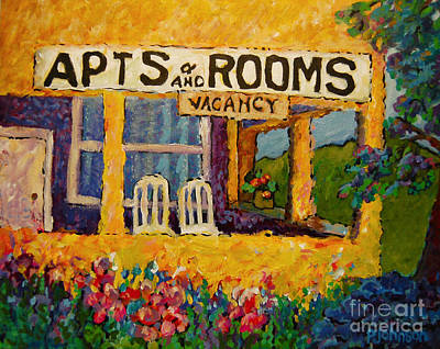 Porch Painting - The Vacancy by Peggy Johnson