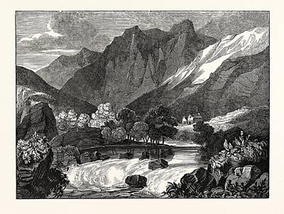 Vale Drawing - The Vale Of Glenco, Glencoe, Scotland by Litz Collection