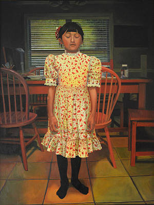 Smithsonian Museum Painting - The Valentine Dress by Thu Nguyen