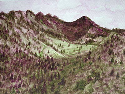 Painting - The Valley by Carol Warner