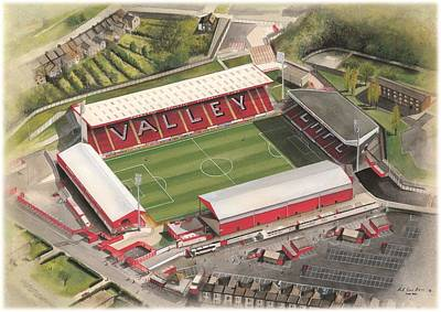 Sports Paintings - The Valley - Charlton Athletic by Kevin Fletcher