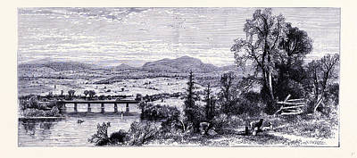 Vale Drawing - The Valley Of Connecticut Seen From Rocky Mountain United by American School