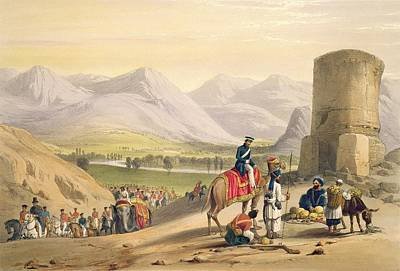 Afghanistan Drawing - The Valley Of Maidan, From Sketches by James Atkinson