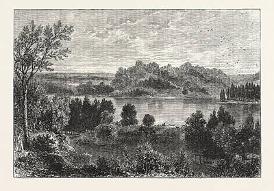 Vale Drawing - The Valley Of The Mississippi, United States Of America by American School