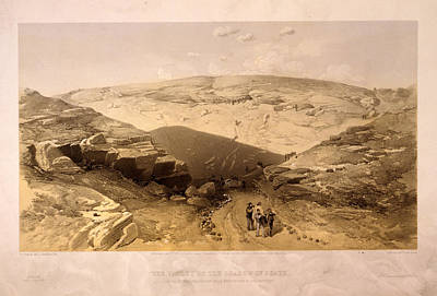 Death Valley Drawing - The Valley Of The Shadow Of Death Caves In The Woronzoff by Litz Collection