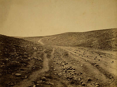 Death Valley Drawing - The Valley Of The Shadow Of Death, Crimean War by Quint Lox