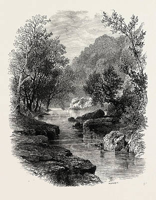 Vale Drawing - The Valley Of The Wharfe, The Forest Scenery Of Great by English School