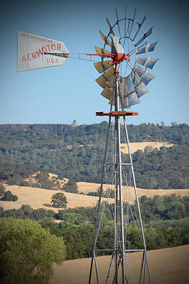 Photograph - The Valley Windmill by Holly Blunkall
