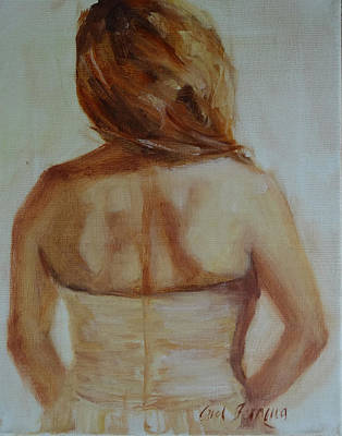 Monochromatic Study Painting - The Value Of A Woman by Carol Berning