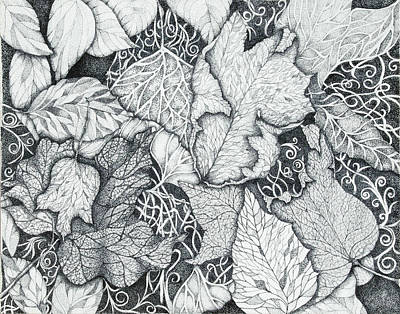 Autumn Landscape Drawing - The Value Of Fall by RK Hammock