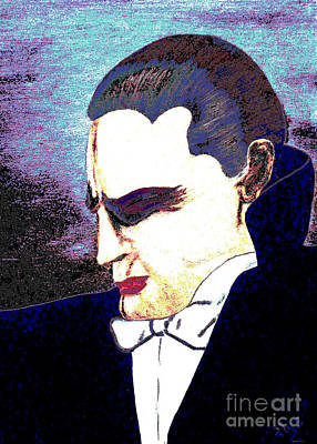 Dracula Digital Art - The Vampire by Alys Caviness-Gober