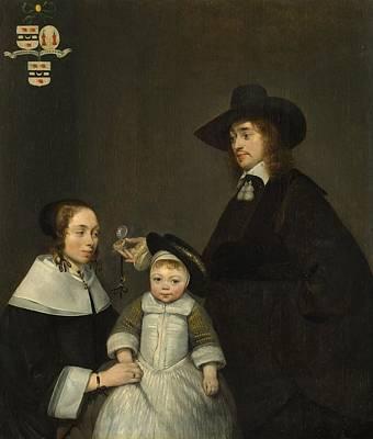 The Van Moerkerken Family Art Print by Gerard ter Borch