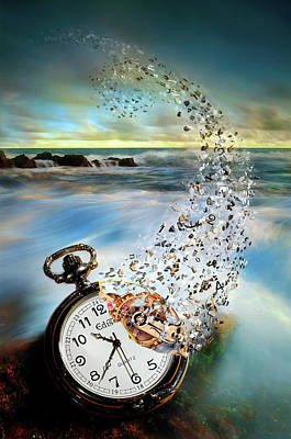 Blow Photograph - The Vanishing Time by Sandy Wijaya