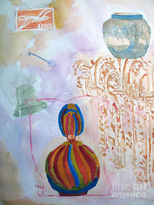 Painting - The Vase Pot And Key by Sandy McIntire