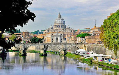 Photograph - The Vatican From The Tiber by Caroline Stella