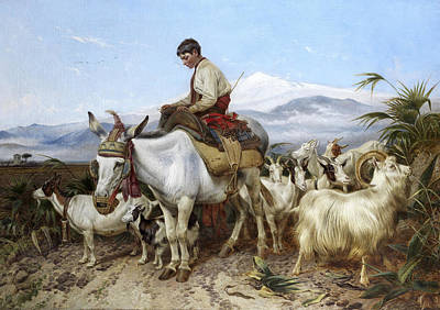 Granada Painting - The Vega Of Granada Returning From Pastures by Richard Ansdell