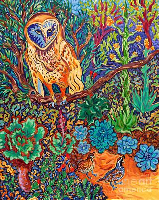 Garden Painting - The Vegan Owl by Cathy Carey