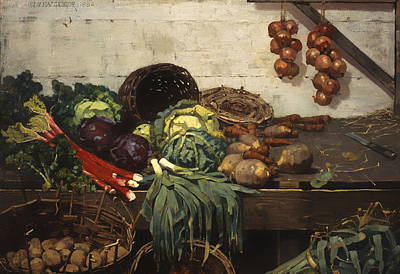 The Vegetable Stall Art Print
