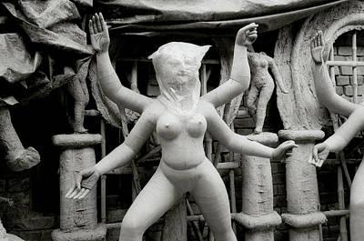 Goddess Durga Photograph - The Veiled Durga by Shaun Higson